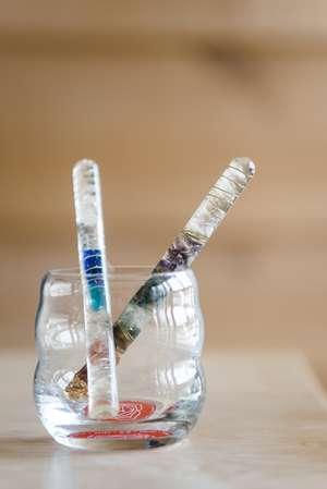 Aurasoma und Kristallstäbe